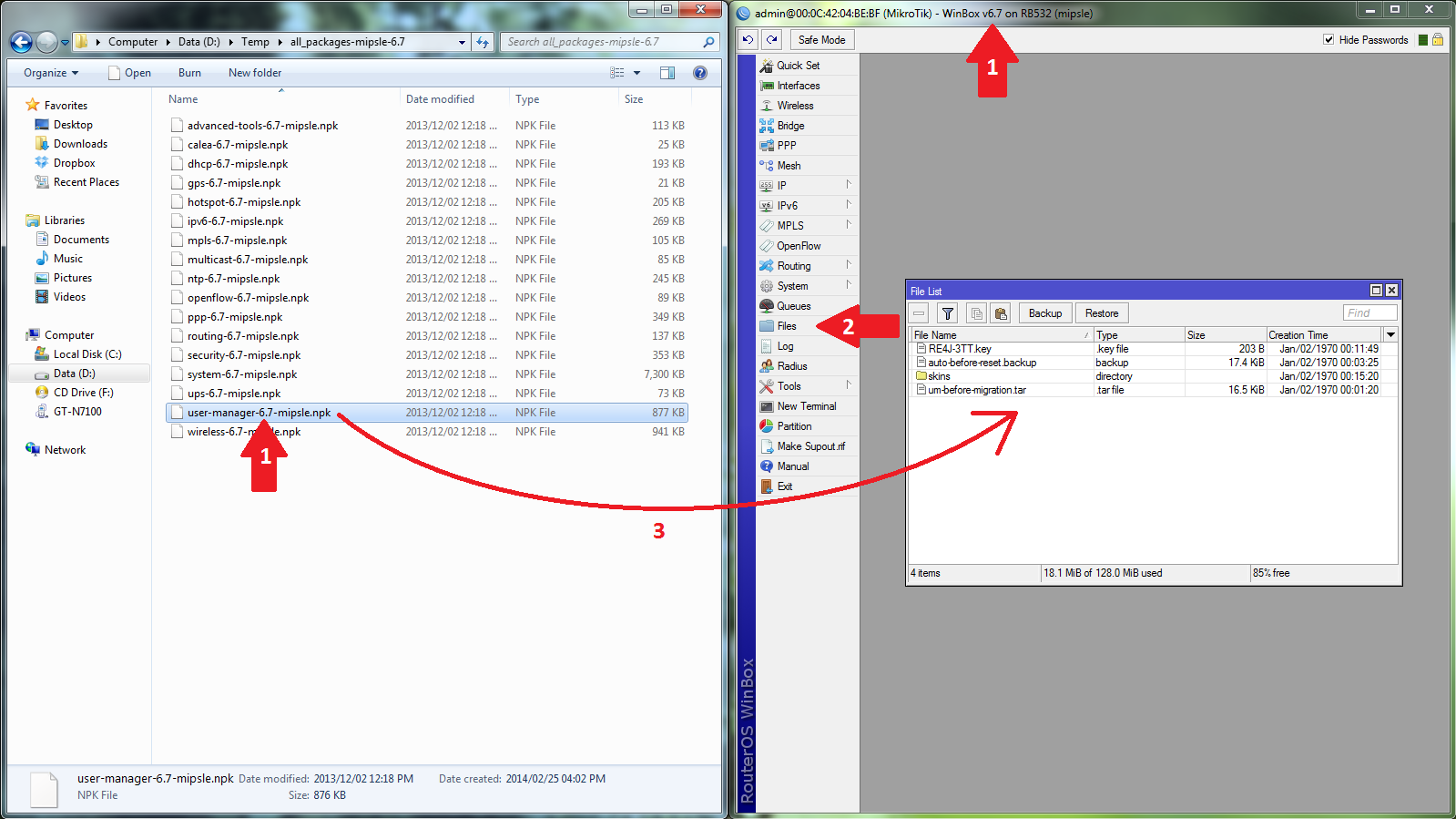 How to connect to internet by using windows 7 built in pppoe wizard - Step 3 Configure Interfaces