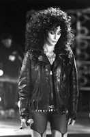 Cher on set of her '...Turn Back Time video