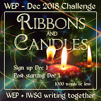 JOIN WEP FOR DECEMBER! OUR LAST CHALLENGE FOR 2018! RIBBONS and CANDLES...