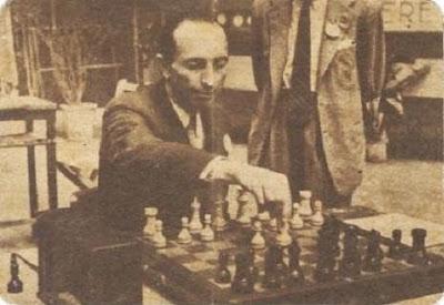 Antonio Rico, brillante subcampeón del I Torneo Internacional de Ajedrez de Avilés 1947