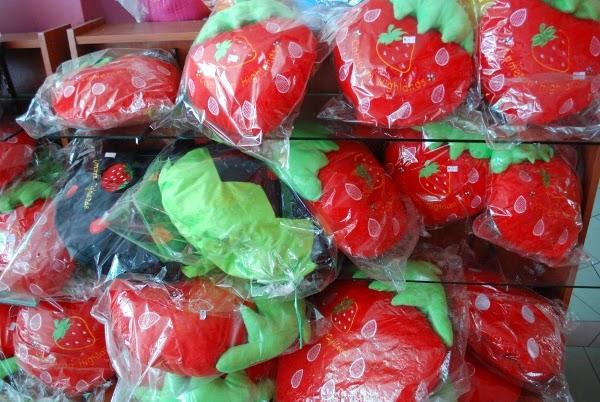 Strawberry souvenirs in Malaysia