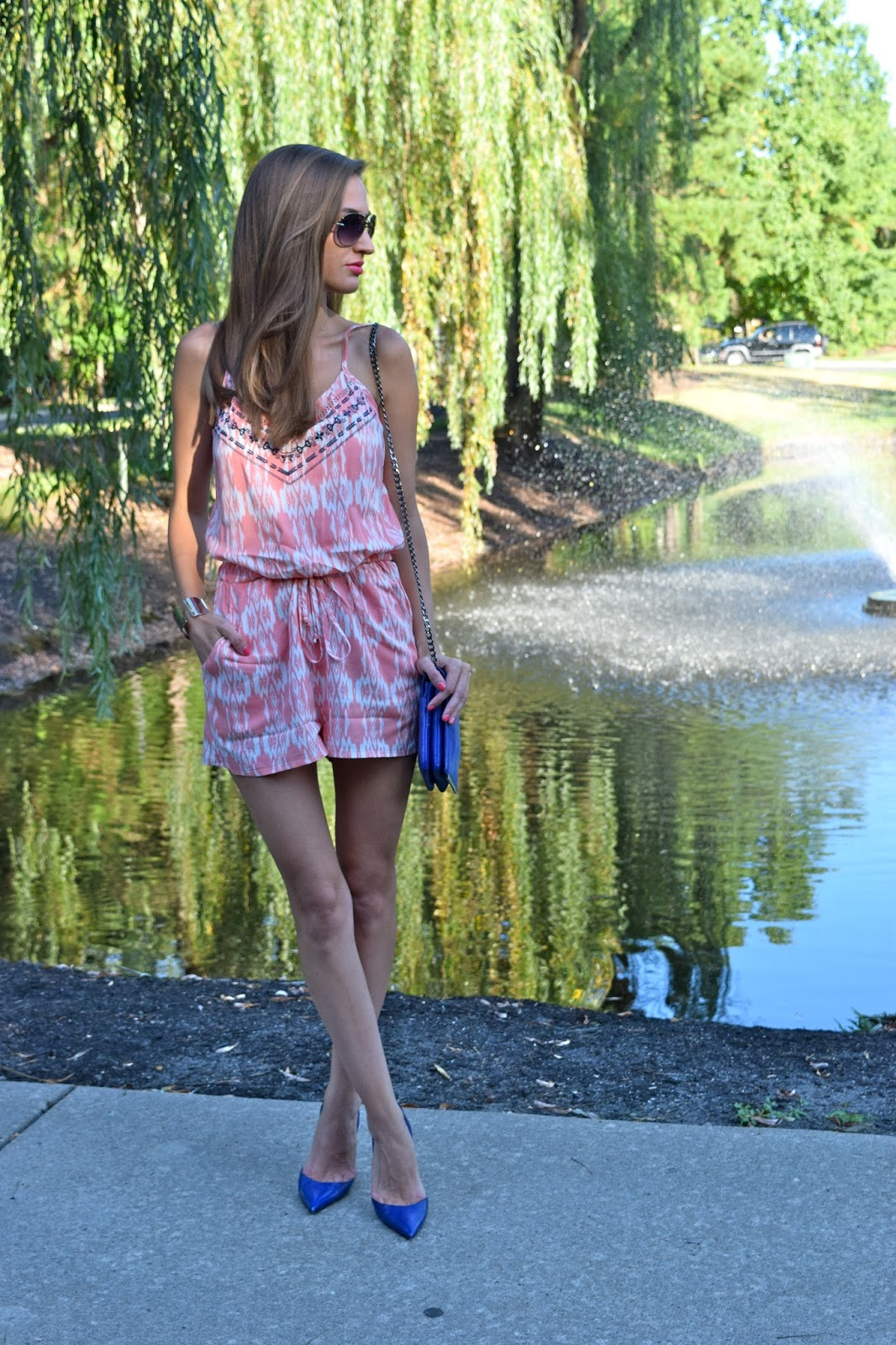 Back to school with Trixxi Girl. Society Girl Nordstrom Romper, Manolo Blahniks
