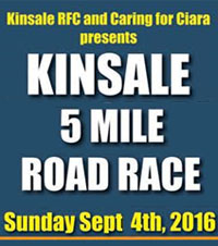 5 mile race in Cork...Sun 4th Sept 2016