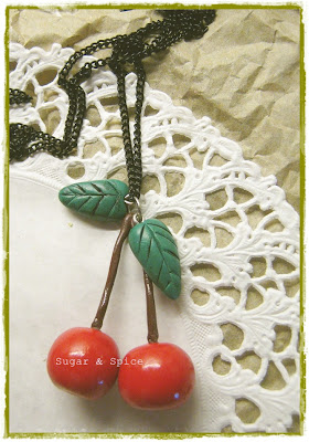 polymer clay cherries
