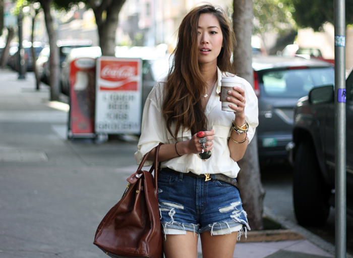 How To Style Denim Shorts