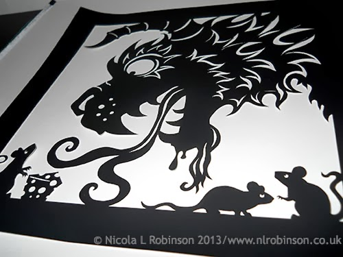 Nicola L Robinson - Paper Cut Illustration