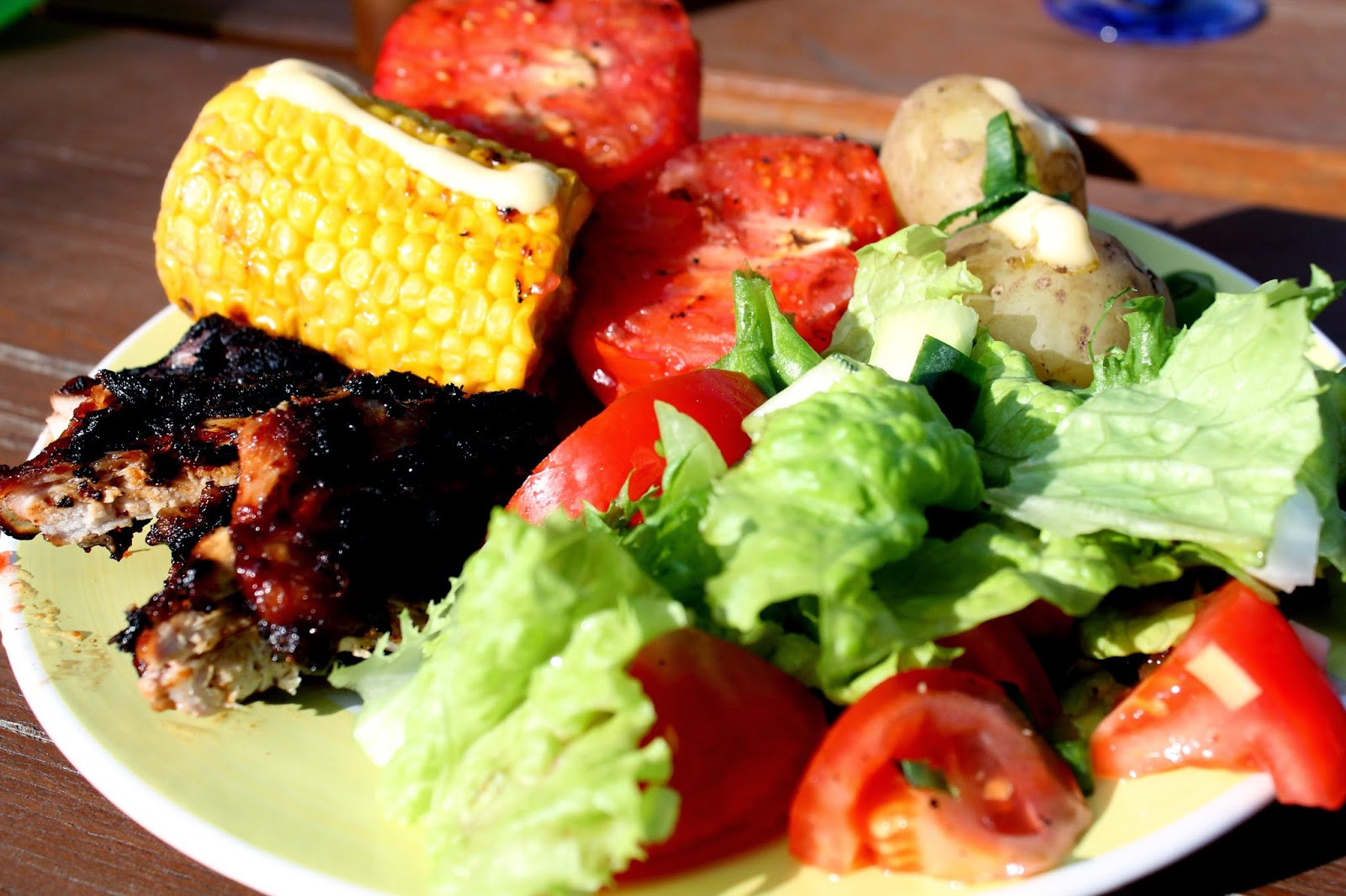 summer cottage food, BBG party