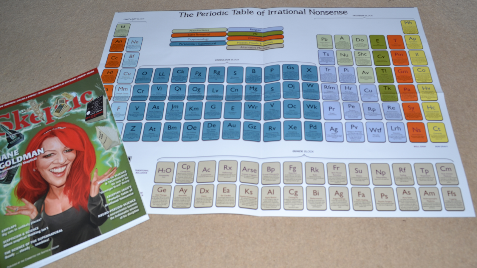 The reason stick new and improved periodic table of irrational new and improved periodic table of irrational nonsense poster now available gamestrikefo Image collections
