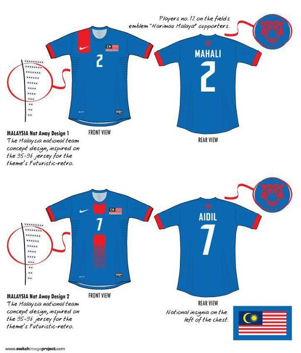 Leaked Design Malaysia AFF 2013 jersey