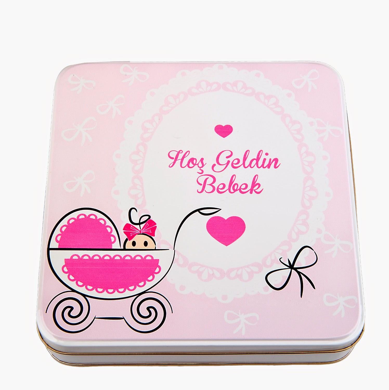 bebek kurabiyelerine teneke kutular