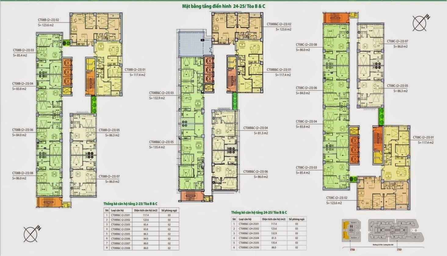 Thiết kế căn hộ CT8 dương nội