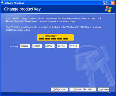 windows xp product key recovery