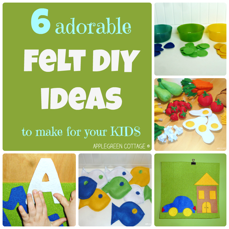 FELT toy IDEAS to make for your kids