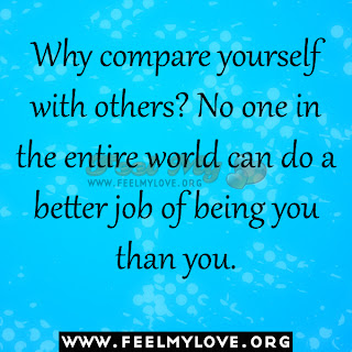 Why compare yourself with others?