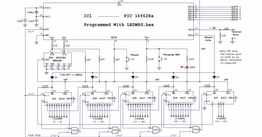 moving message display using 8051 microcontroller pdf