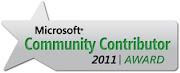 Microsoft Community Contributor Award - 2011