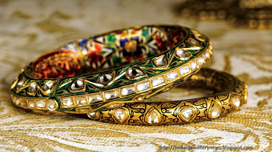 Meenakari Bangles Enamel in 22ct Yellow Gold