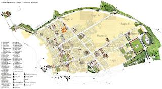 Mapa de Pompeya - Casa de los Vetti