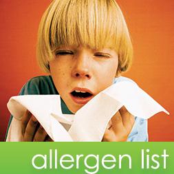 Allergen List