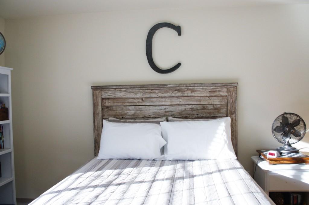 Rustic Headboard {aged wood} | BeingBrook