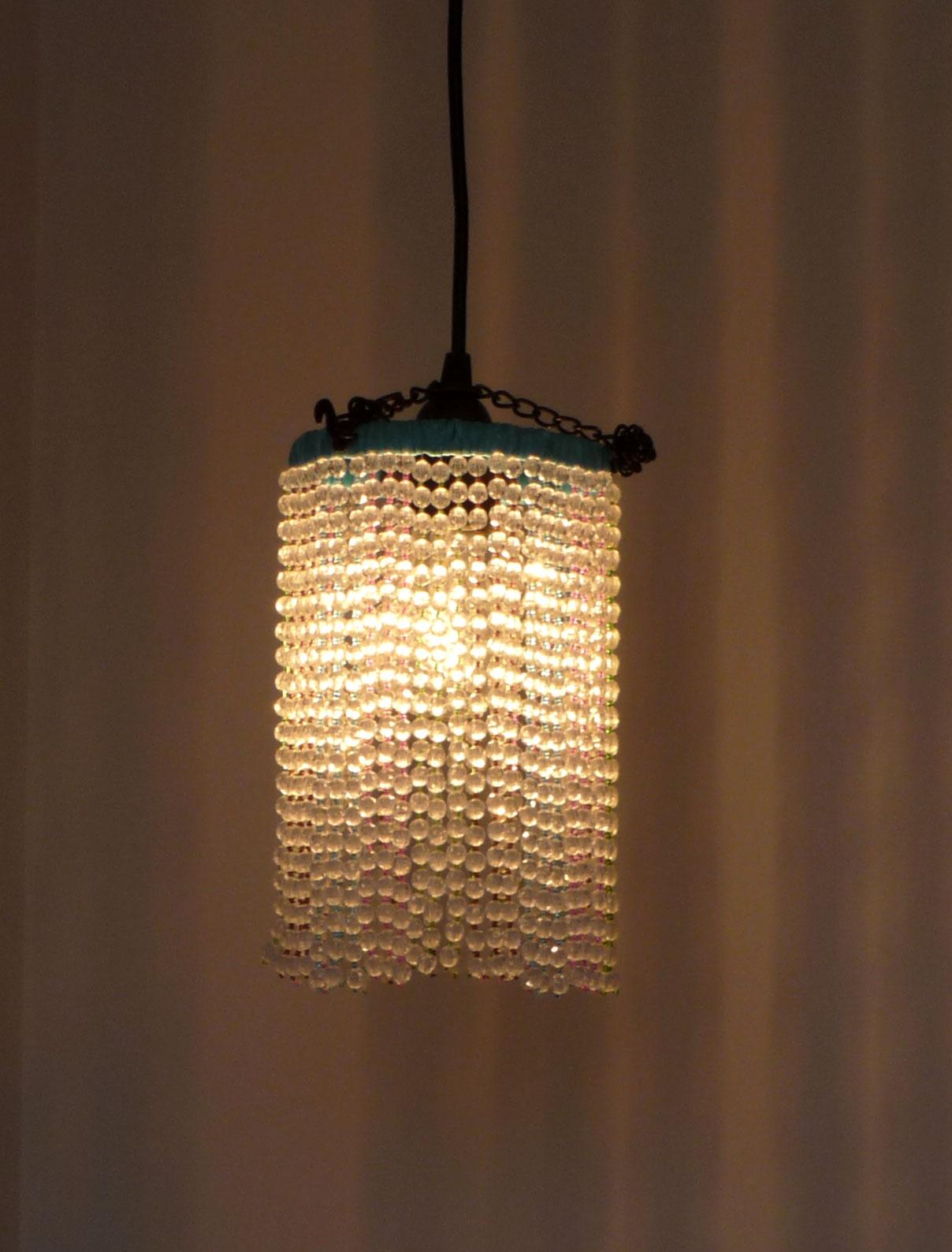 Aka carolyn project blog diy lighting challenge 1 for Diy crystal chandelier lamp