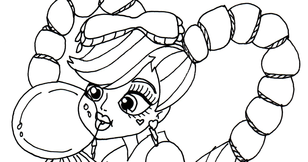 Monster high draculaura free coloring pages