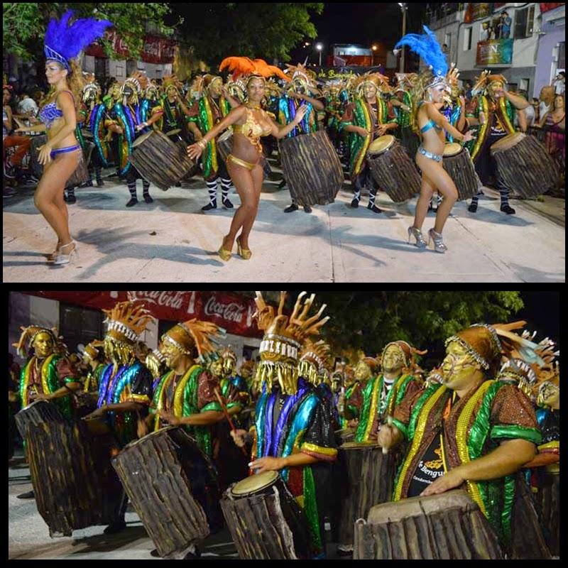 Carnaval. Desfile de Llamadas. Las Panteras De Benguela.