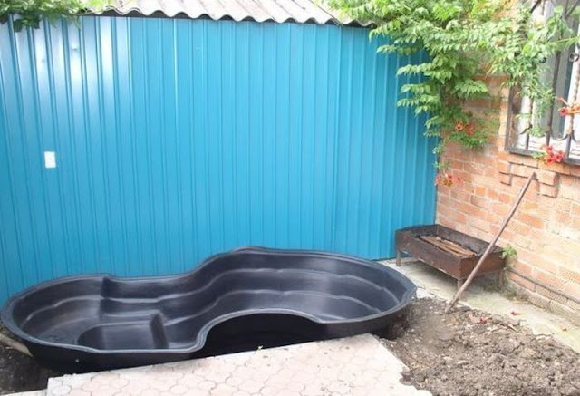 home made pond, do it yourself pond, awesome pond, make your own pond
