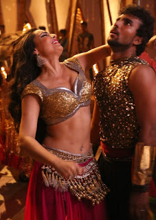 Shweta Bhardwaj in Golden Choli and ghagra at Soukyam movie Item song Must see