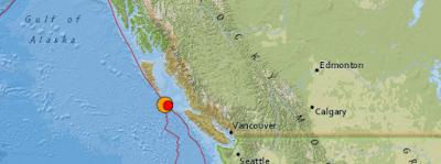 Epicentro sismo 6,1 grados en Canadá, 04 de Septiembre 2013