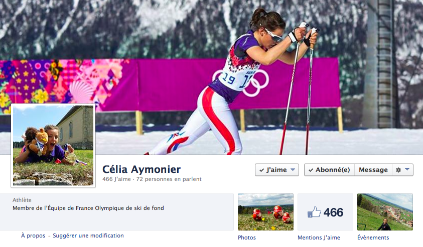 La Page Facebook de Célia