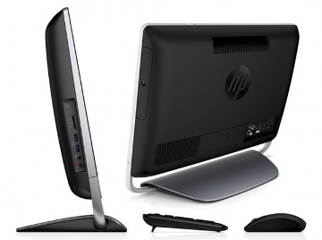 HP Envy 20 Touchsmart Side showing ports and Blu-Ray Player