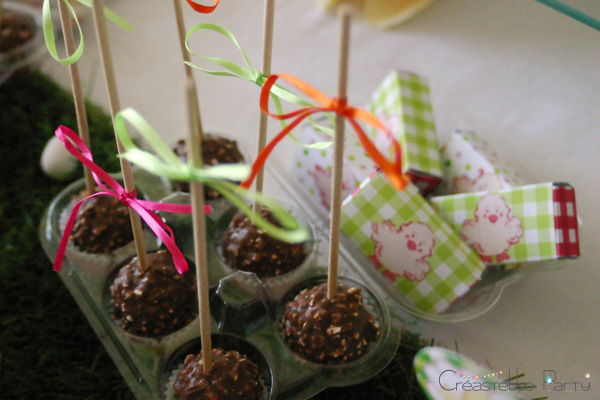 Easter garden party chocolate pops
