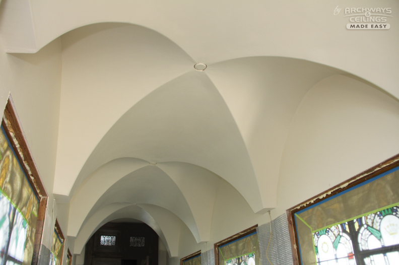 The curve appeal groin arch vs barrel vault for Archway ceilings