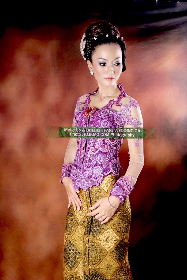 Contoh Make Up Minimalis Elegan Kebaya Pendek Ungu oleh Panjiwedding.ga Rias Pengantin Purwokerto | Foto oleh KLIKMG.COM Fotogrfi [2]