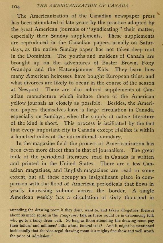 the americanization of canada essay Hollywood acts an important role in globalization and americanization  globalization strategies in hollywood  hollywood even owns film market in canada,.