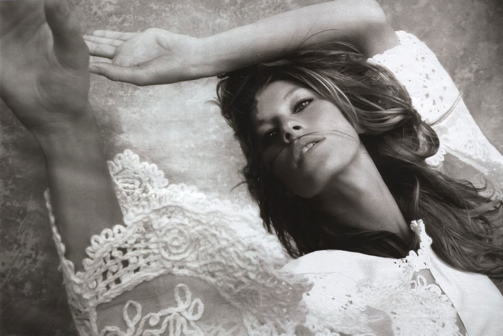Gisele Bundchen in Flower princess | Elle France February 2005 (photography: Stephane Sednaoui, styling; Michele Beaurenaut)