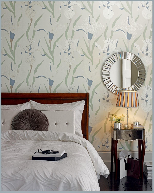 Dormitorio Laura Ashley ropa de cama y papel pintado
