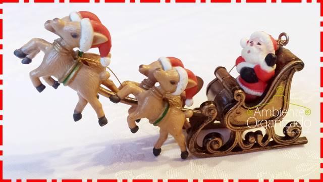 Enfeite de Natal - trenó do Papai Noel