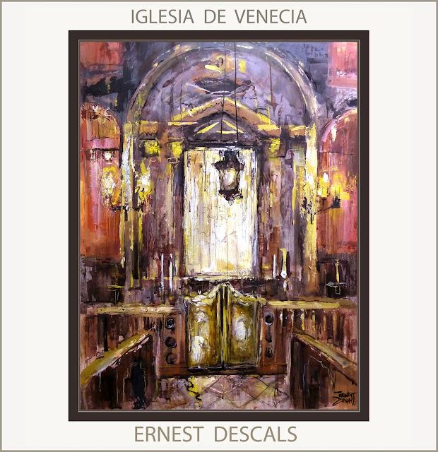 IGLESIA-VENECIA-PINTURAS-INTERIORES-MAGIA-CUADROS-IGLESIAS-PINTOR-ERNEST DESCALS-