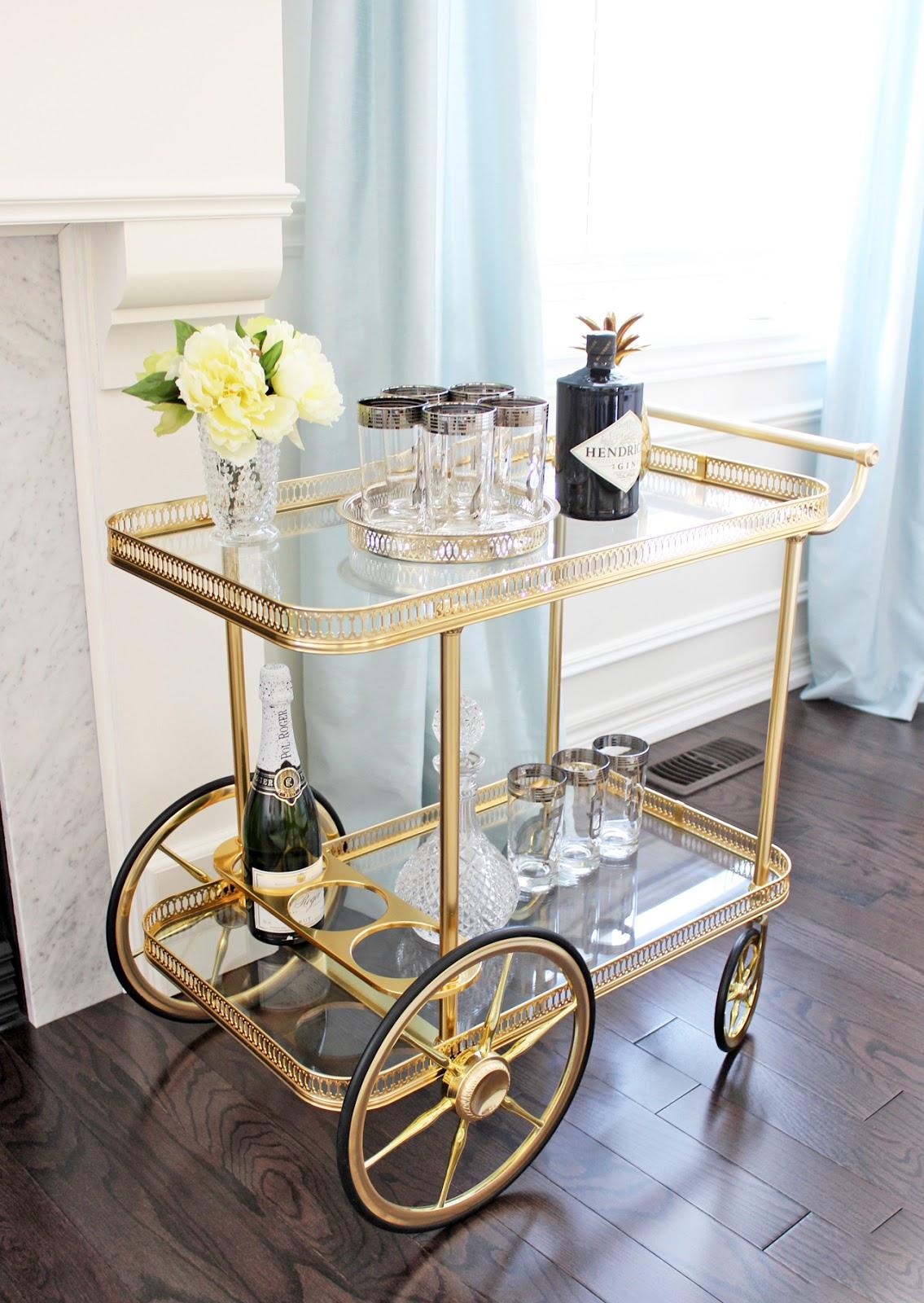 am dolce vita vintage bar cart styling. Black Bedroom Furniture Sets. Home Design Ideas