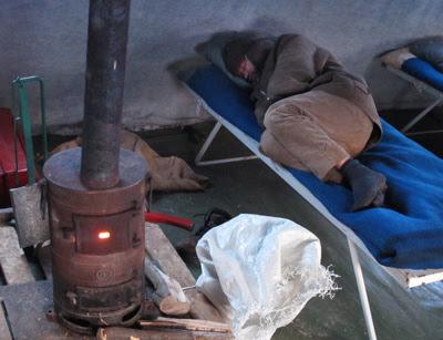 Фото Укринформ: пункт обогрева