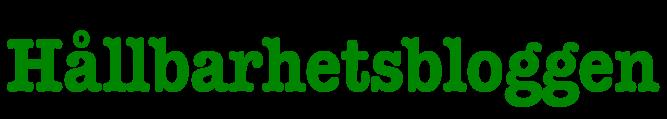 Hållbarhetsbloggen