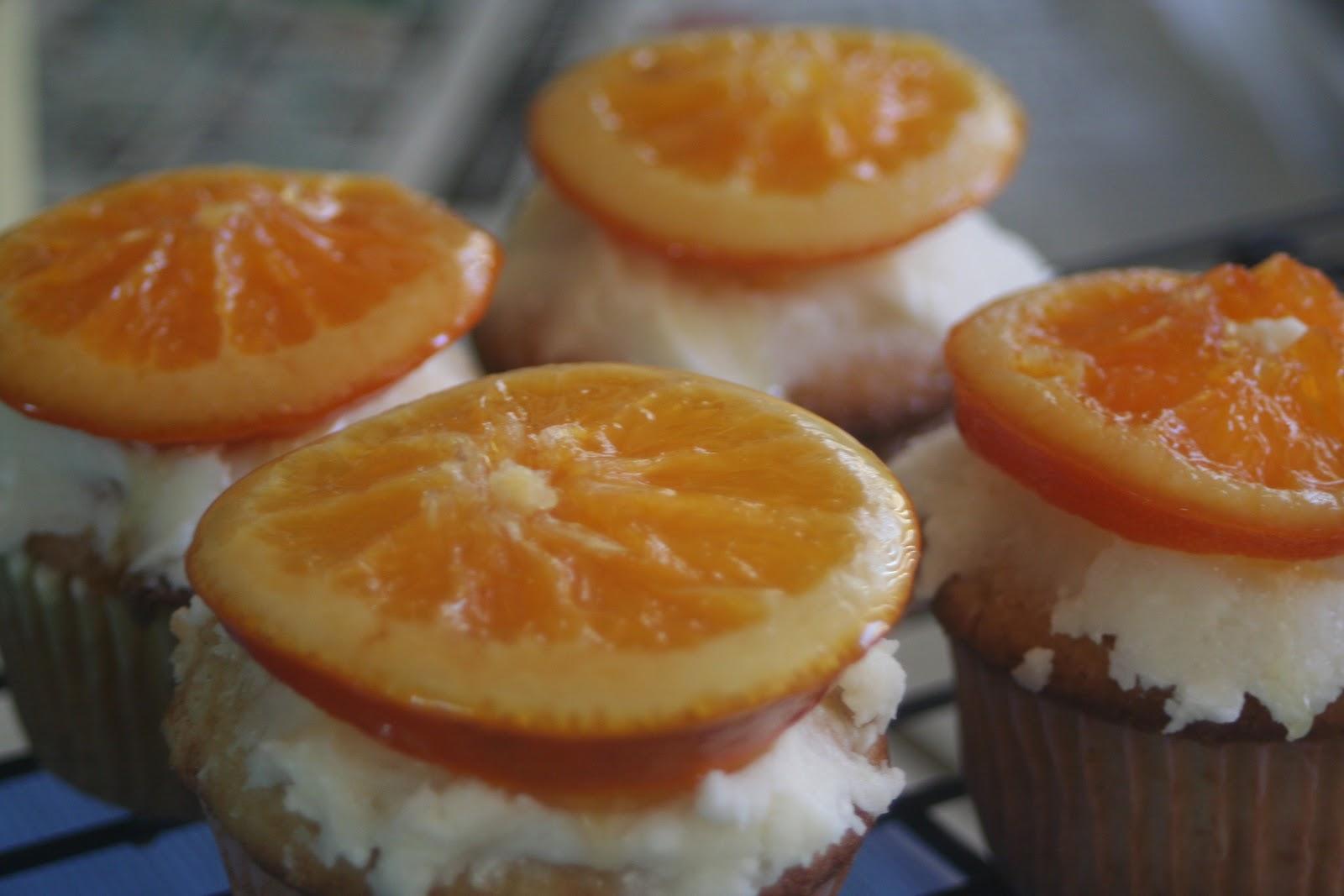 ... Baking Sisters: MSC: Orange Vanilla Bean Cupcakes with Candied Oranges