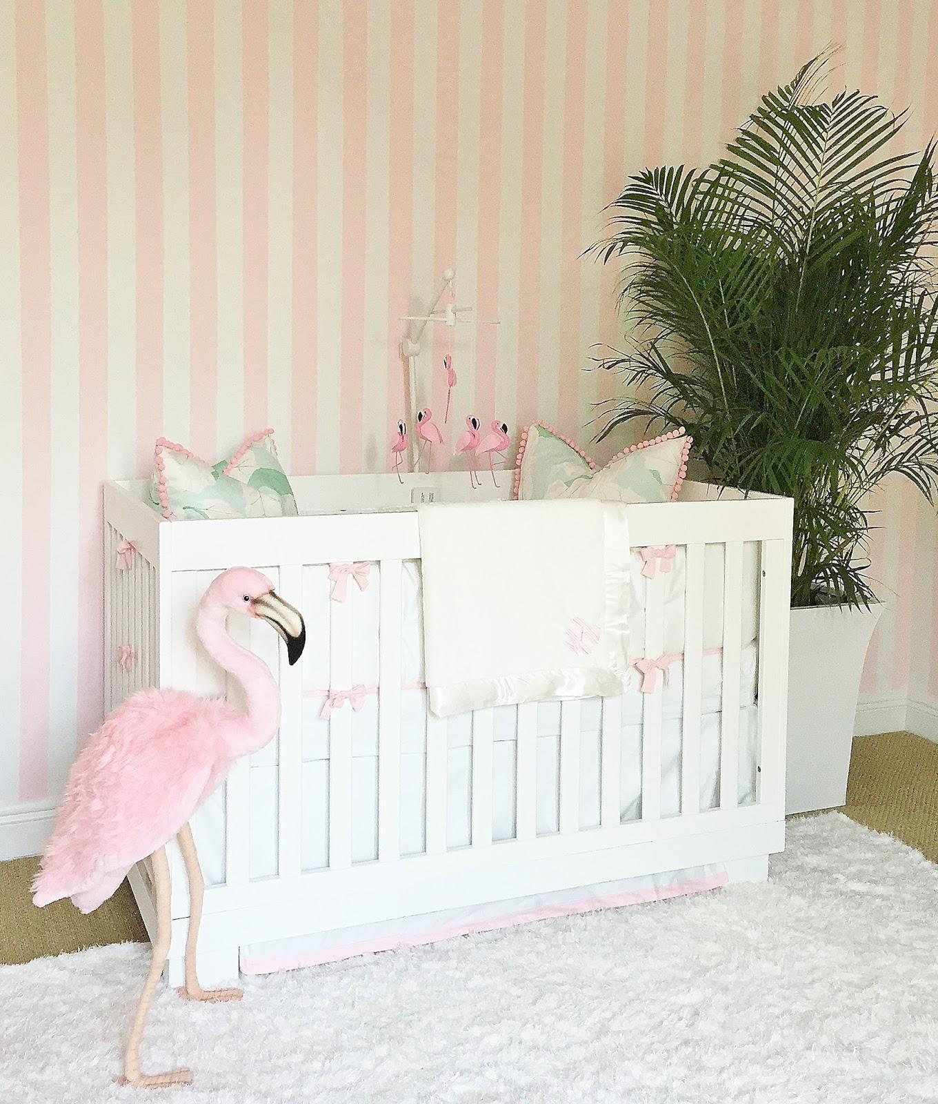 Pink Flamingo Crib Bedding