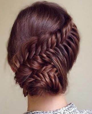 La moda en tu cabello peinados recogidos con trenzas para - Peinados recogidos con trenzas ...