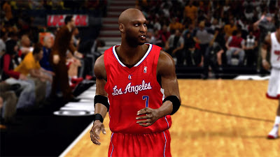 NBA 2K13 Lamar Odom LA Clippers Cyberface Patch
