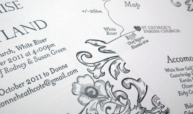 vintage themed wedding invitations - printed by essie letterpress
