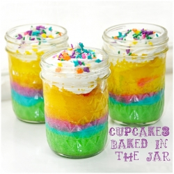 Cupcakes baked in a jar