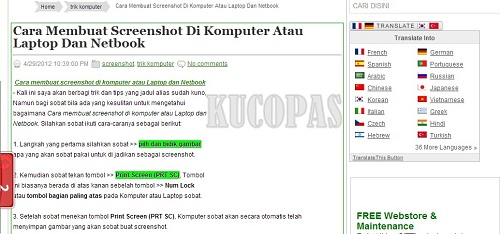 Cara Membuat Screenshot Di Notebook